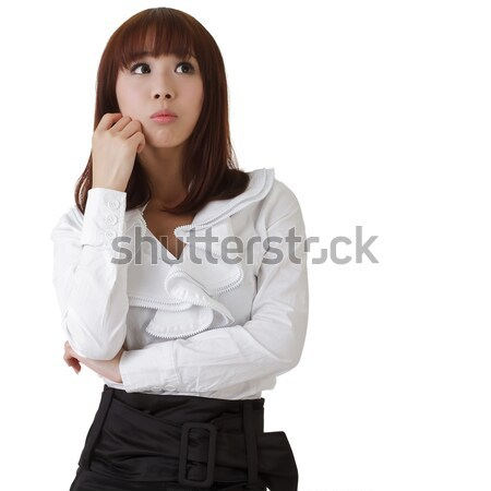Confused business woman Stock photo © elwynn
