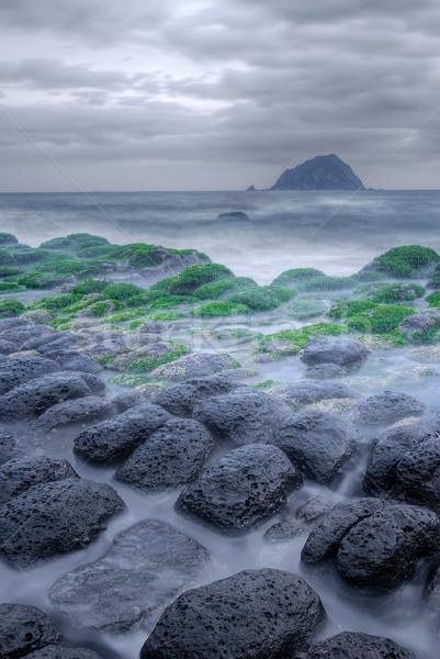 Dramatic landscape of sea Stock photo © elwynn