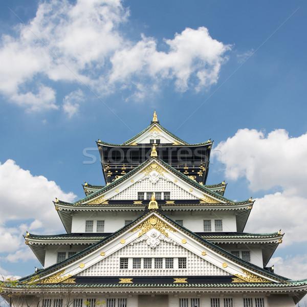 Osaka kale bir ünlü Japonya Asya Stok fotoğraf © elwynn