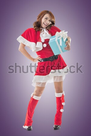 Smile happy Asian Christmas girl Stock photo © elwynn