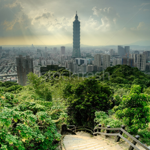 Dramatic cityscape of Taipei Stock photo © elwynn