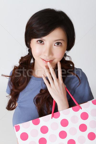 Attractive shopping woman Stock photo © elwynn