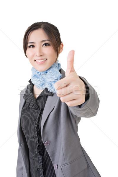 Ottimo gesto asian donna d'affari dare Foto d'archivio © elwynn