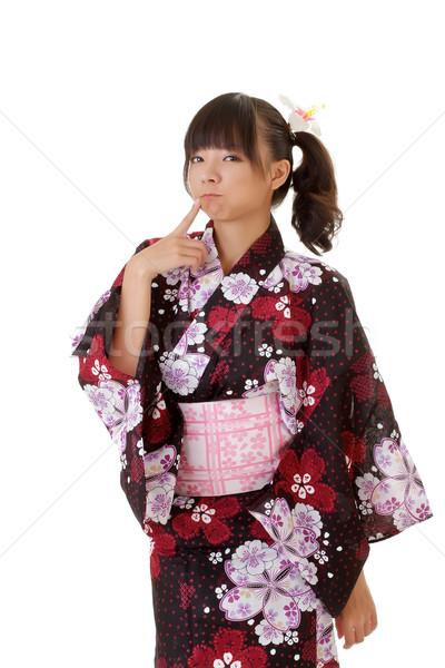 Японский девушки прелестный смешные традиционный одежды Сток-фото © elwynn