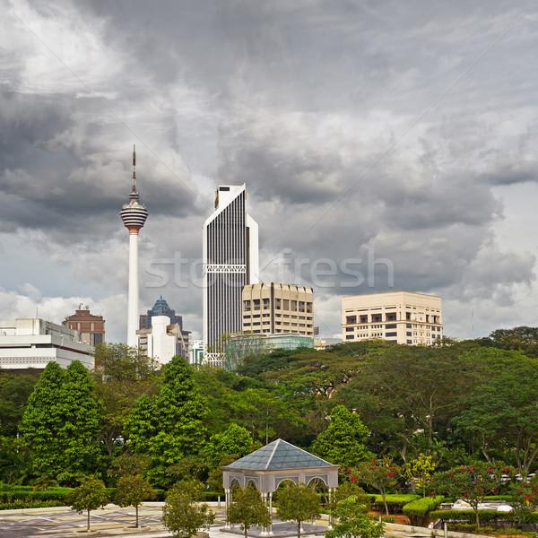 город ориентир известный башни небоскреба Куала-Лумпур Сток-фото © elwynn
