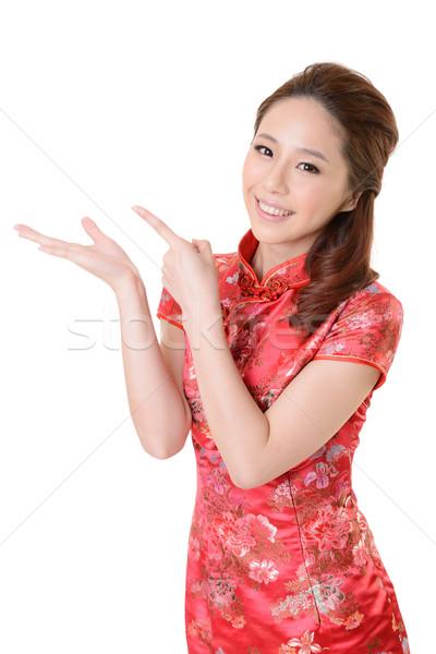 Asian woman introduce Stock photo © elwynn