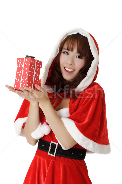 Girl with gift in Christmas Stock photo © elwynn
