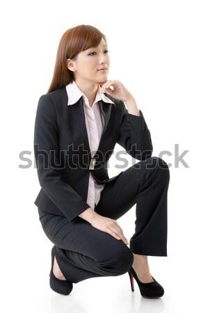 деловой женщины азиатских портрет изолированный белый Сток-фото © elwynn