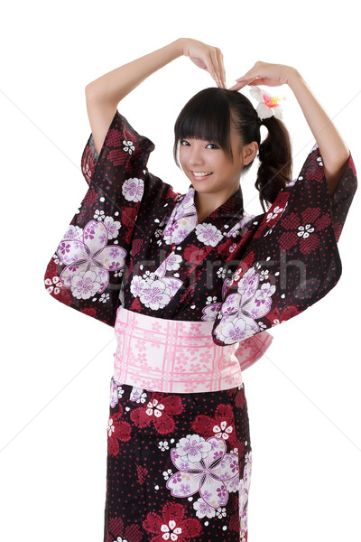 Adorable japanese young girl Stock photo © elwynn