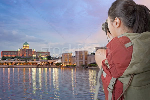 backpacker take photo Stock photo © elwynn
