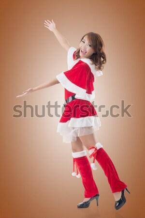Stok fotoğraf: Kadın · çekici · Çin · elbise · geleneksel
