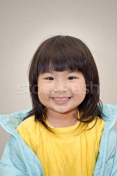 Японский девушки улыбающееся лицо портрет Сток-фото © elwynn