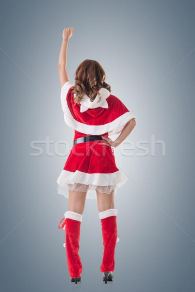 Christmas woman relax Stock photo © elwynn