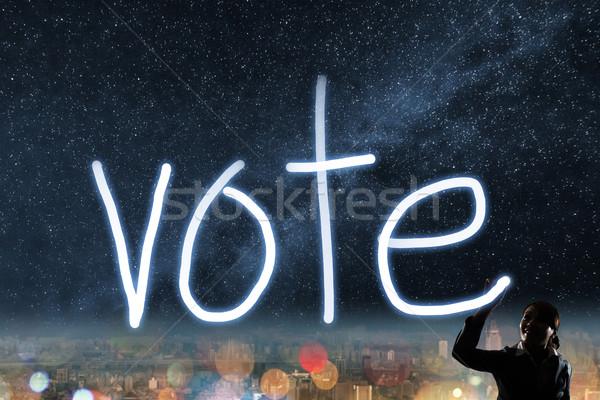 Concept of vote Stock photo © elwynn