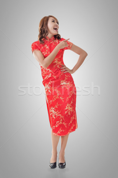 Chinese woman introducing Stock photo © elwynn