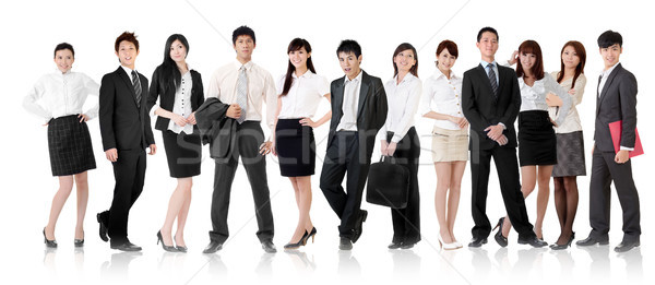 Foto stock: Asia · equipo · de · negocios · mujer · de · negocios · empresario · grupo · pie