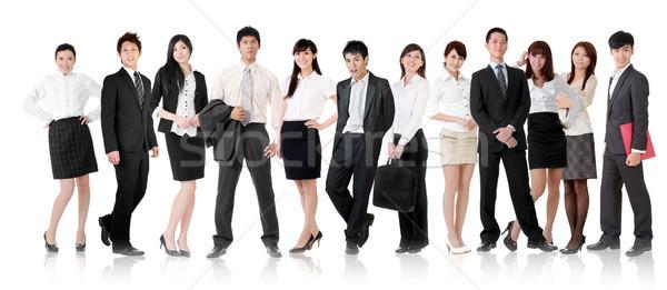 Asian business team zakenvrouw zakenman groep permanente Stockfoto © elwynn