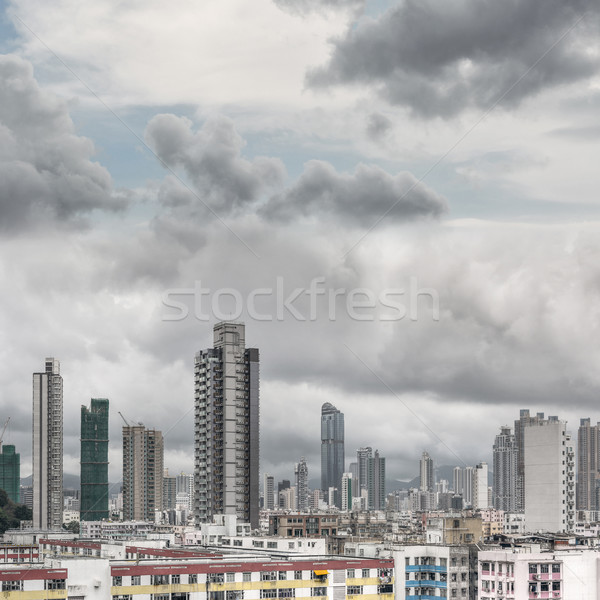 Typical Hong Kong apartment skyline Stock photo © elwynn