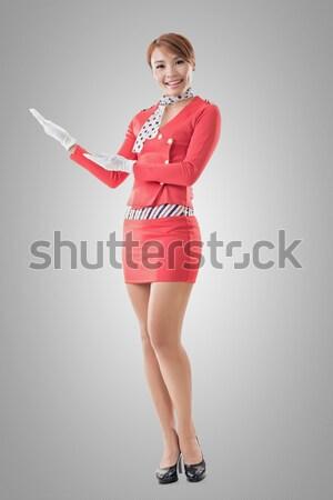 Asian stewardess portret geïsoleerd gezicht Stockfoto © elwynn
