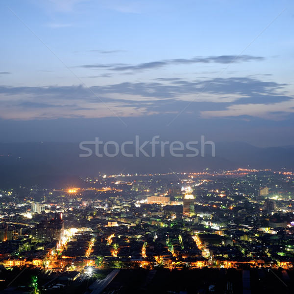 Cityscape of night Stock photo © elwynn