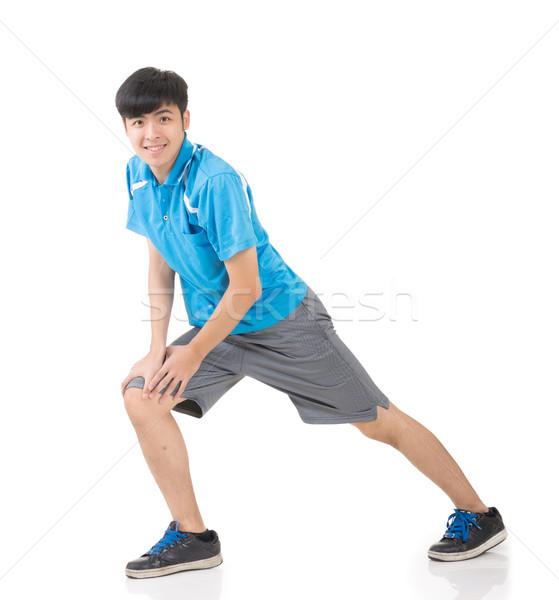 man stretch Stock photo © elwynn