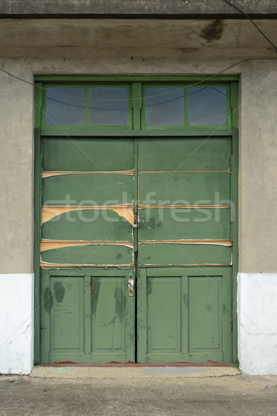 Old grunged door Stock photo © elwynn