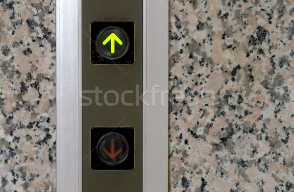 elevator button of up sign Stock photo © elwynn