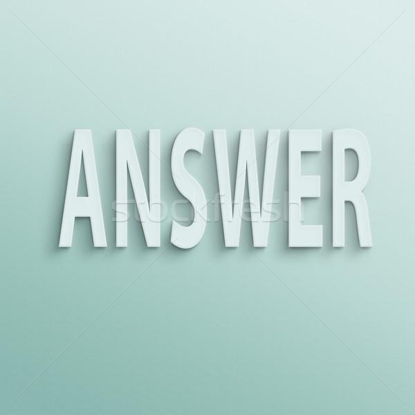 answer Stock photo © elwynn