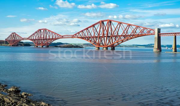 The red Forth railway bridge Stock photo © elxeneize