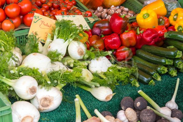 Koper pieprz cukinia inny warzyw sprzedaży Zdjęcia stock © elxeneize