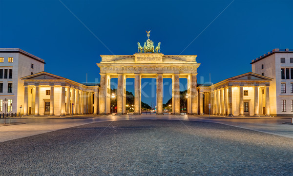 Panorama of the Brandenburger Tor at night Stock photo © elxeneize