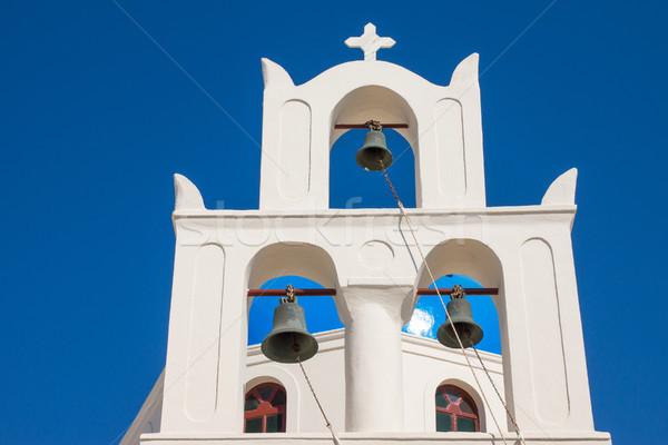 Traditional belltower of a greek church Stock photo © elxeneize