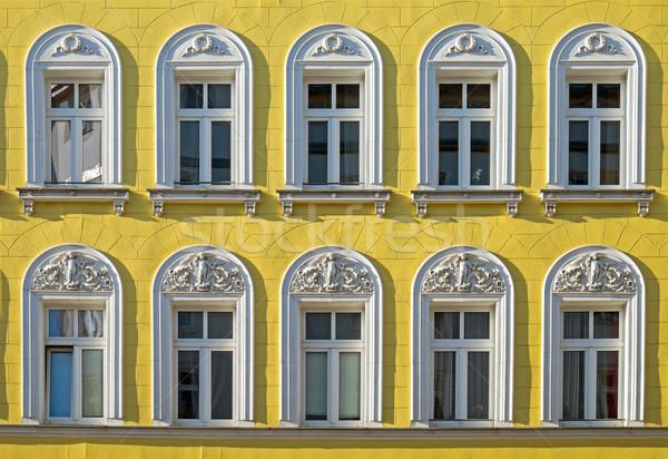 Facade of a restored building Stock photo © elxeneize