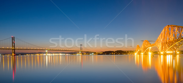 Two bridges over the Firth of Forth Stock photo © elxeneize