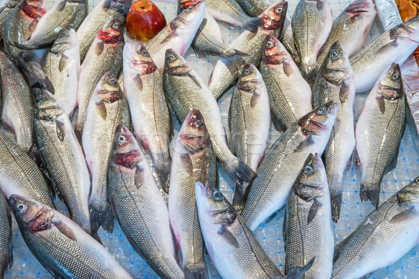 Fish at a market in Palermo, Sicily Stock photo © elxeneize