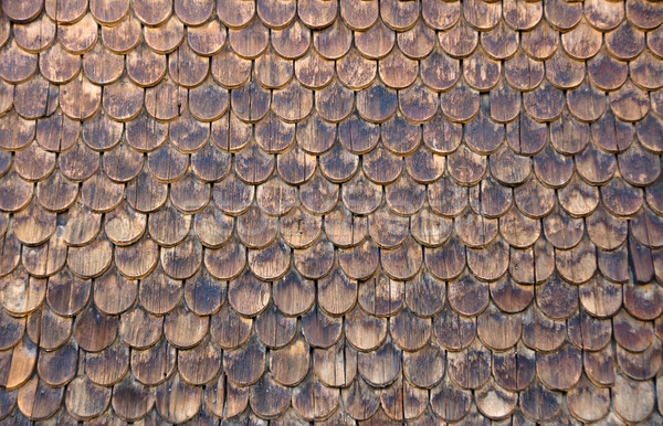 Fal fából készült épület absztrakt keret tapéta Stock fotó © elxeneize