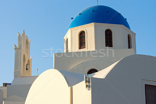 Beautiful church in Oia, Santorini Stock photo © elxeneize