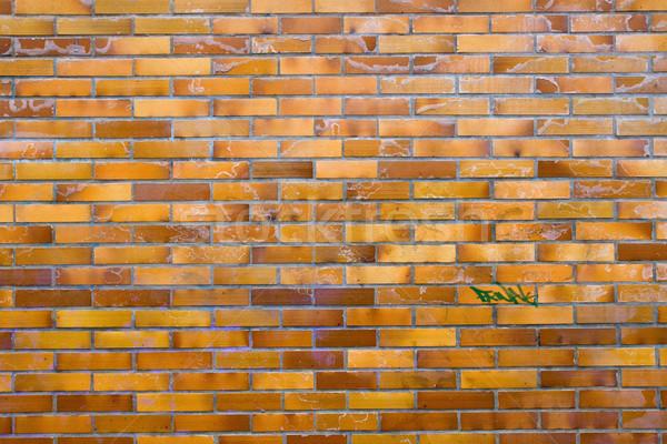 Dirty wall of clinker bricks Stock photo © elxeneize