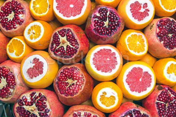 Granada pomelo naranjas mercado Estambul alimentos Foto stock © elxeneize