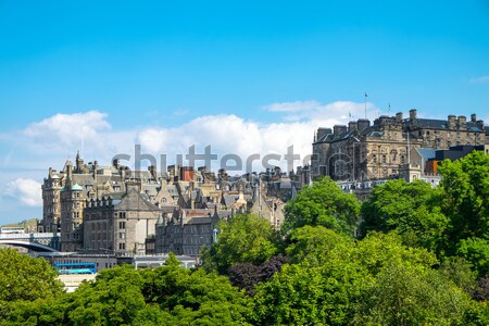 Stock photo: Park and buildings in Edinburgh
