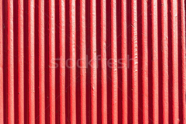 Red corrugated metal sheet background  Stock photo © elxeneize