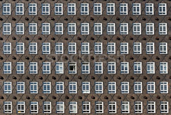 Histórico fachada hamburgo Alemania edificio Foto stock © elxeneize
