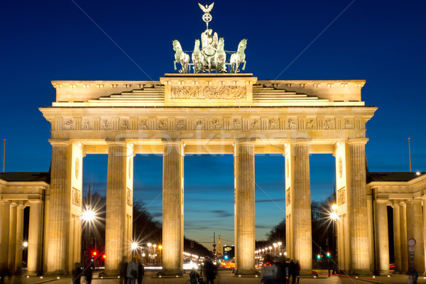 The Brandenburg Gate at dawn Stock photo © elxeneize