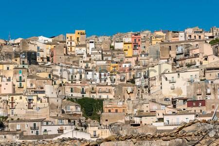 Part of Ragusa Ibla in Sicily Stock photo © elxeneize