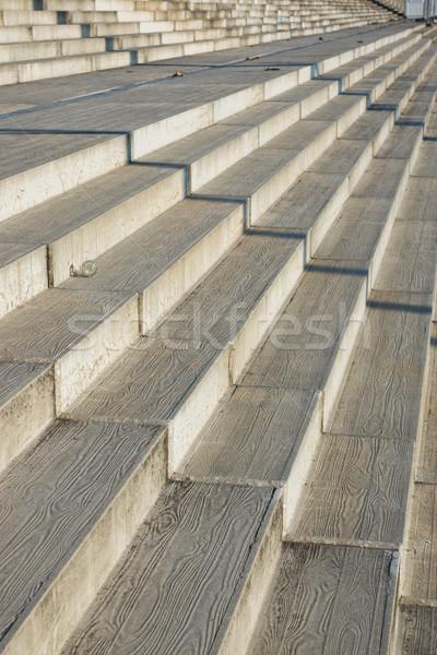 Beton lépcsősor terméketlen átló nézőpont építkezés Stock fotó © elxeneize