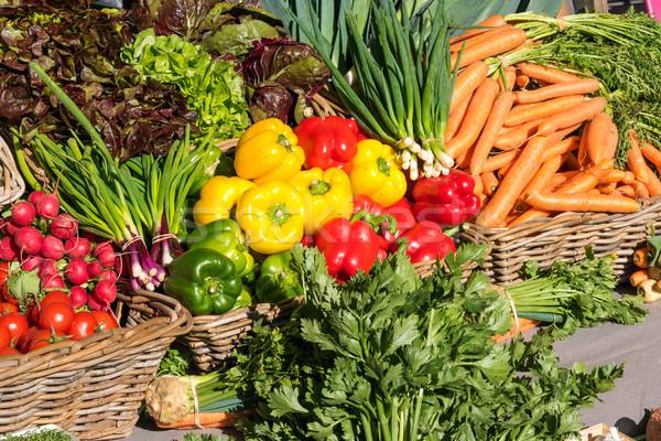 新鮮な野菜 市場 販売 ベルリン 食品 緑 ストックフォト © elxeneize
