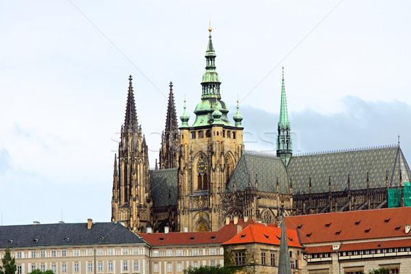 The Saint Vitus cathedral in Prague Stock photo © elxeneize