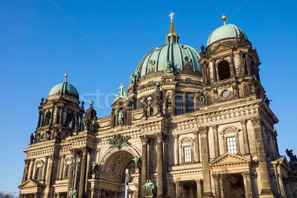 The Berlin Dom on a sunny evening Stock photo © elxeneize