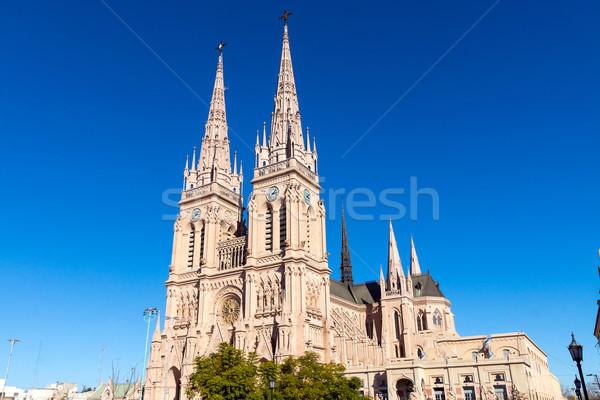 Híres katedrális Buenos Aires Argentína épület város Stock fotó © elxeneize