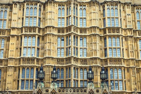 Facade of the Houses of Parliament  Stock photo © elxeneize